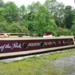 The Judith Mary 'VERY' long boat moored at Whaley Bridge