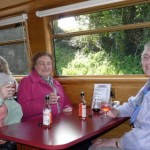 Irene, Dorothy and Jean chat over a glass of wine