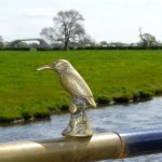 A fine gold emblem of the Kingfisher at the rear of the boat
